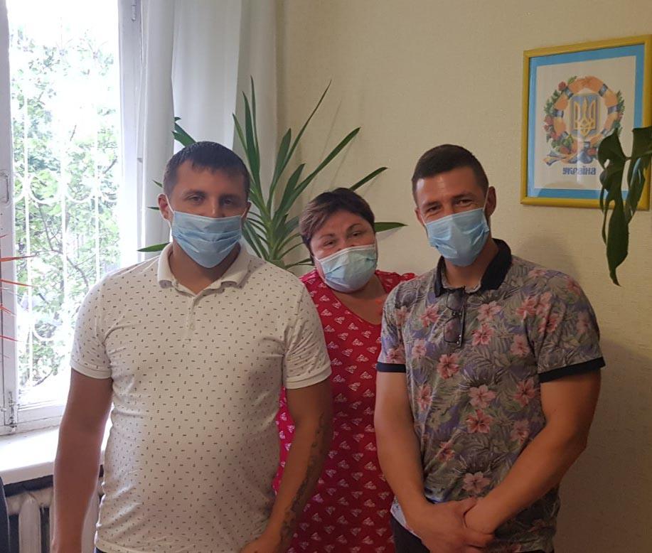 Волонтеры посетили центр пробации города Изюм.